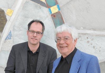 Christian Lorenz (links), Intendant der Internationalen Bachakademie Stuttgart, und Helmuth Rilling, deren Gründer [(c) Holger Schneider / Musikfestuttgart]